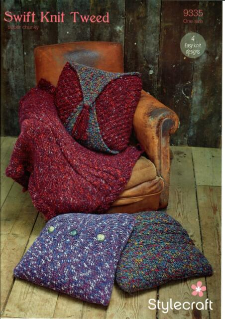 Stylecraft 9335 Knitting Pattern Cushion Covers And Throw In Swift