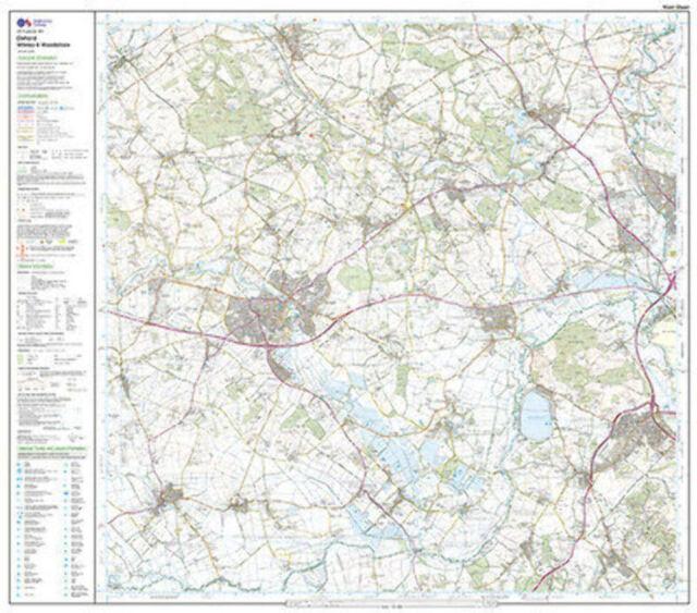 Oxford Witney Woodstock Explorer Map LAMINATED ACTIVE Map 180 Ordnance Survey