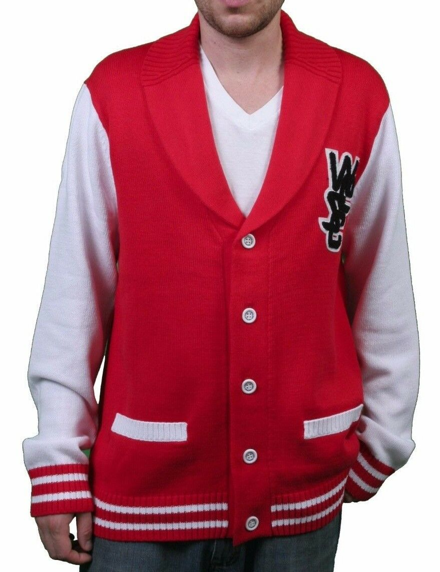 WeSC Mens Massimo Knitted True Red Cardigan Cotton Sweater 2xl | eBay