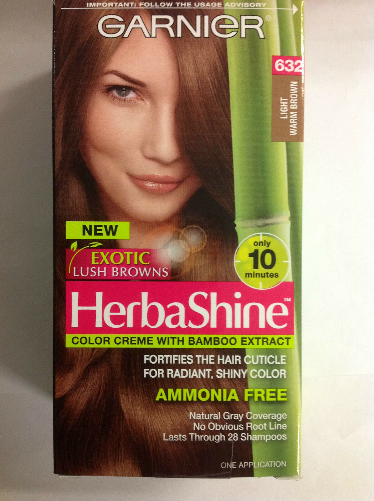 3 X Garnier Herbashine Haircolor Creme 632 Light Warm Brown