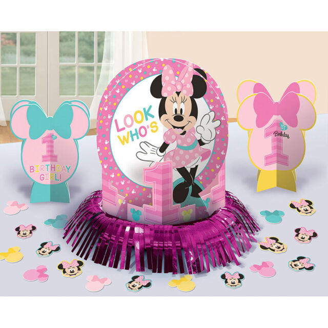 Disney Minnie Mouse 1st Birthday Decorating Kit by Amscan eBay
