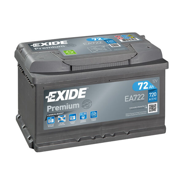 Type 096 Car Battery 680CCA Exide 74Ah OEM Replacement 3 Years Warranty
