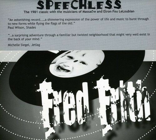 Fred Frith - Speechless [New CD]