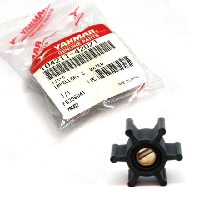 Genuine YANMAR Water Pump Impeller 2QM15, 2GM20, 3GM30 - 104211-42071