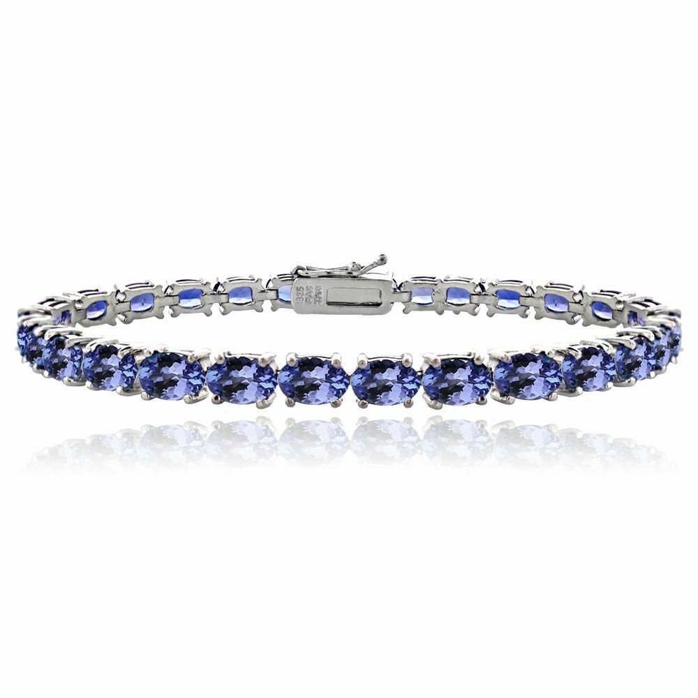 with bracelet tanzanite diamonds in gold tw yellow