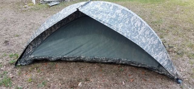 Military ICS ORC Improved Combat Shelter One Man Tent ACU with stakes used good & Military ICS Orc Improved Combat Shelter One Man Tent ACU With ...