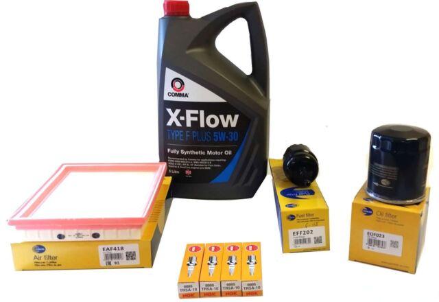 AIR OIL FUEL FILTER 5Litres Oil 4 NGK SPARK PLUGS FORD FIESTA 1.25 16V 2003>2009