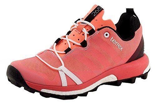 Adidas Outdoor Terrex Agravic Womens Trail Running Shoes Sun Glowwhitesuper Blush