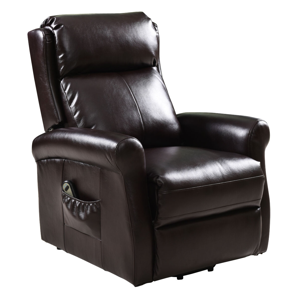 Electric Lift Chair Recliners Remote Living Room Furniture Brown