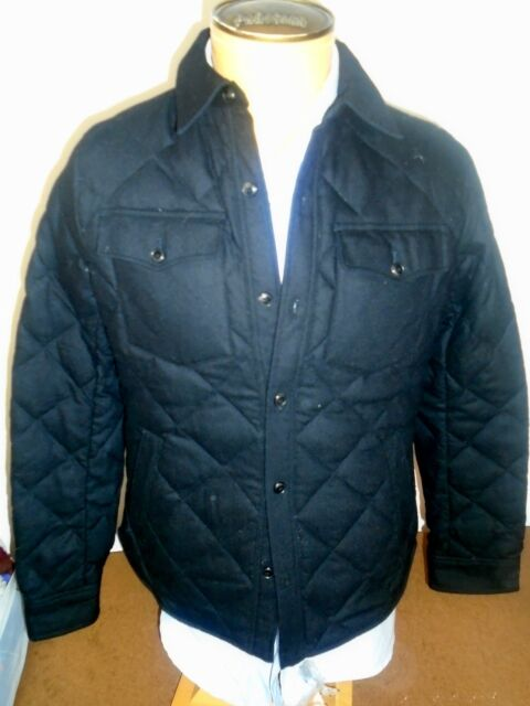 Polo Ralph Lauren Quilted Officers Wool Down Shirt Jacket