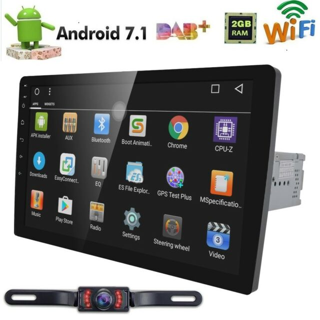 hizpo single 1 din android 7 1 car radio stereo mirror. Black Bedroom Furniture Sets. Home Design Ideas