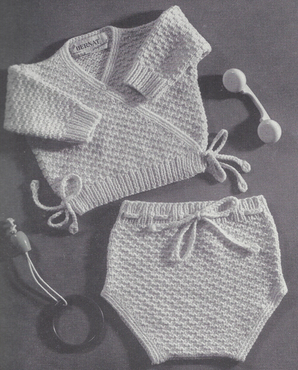 Vintage knitting pattern to make baby sursplice shirtsweater picture 1 of 1 bankloansurffo Gallery