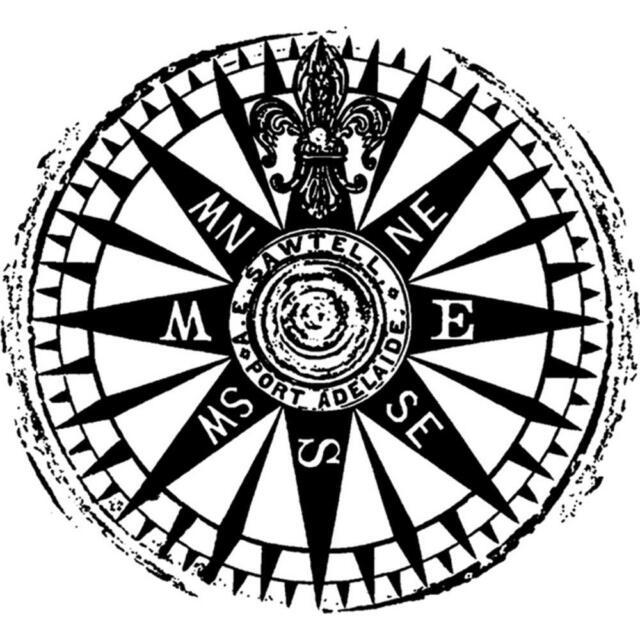 Travel Compass Eclectic Cling Unmounted Rubber Stamp DARKROOM DOOR DDES003  New