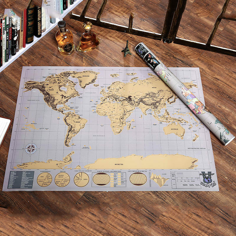 World map creative deluxe travel edition scratch poster picture 1 of 12 gumiabroncs Image collections