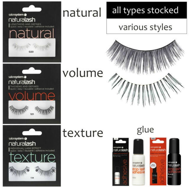Naturalash Strip Lashes Eyes Natural Volume Texture ALL TYPES by Salon System