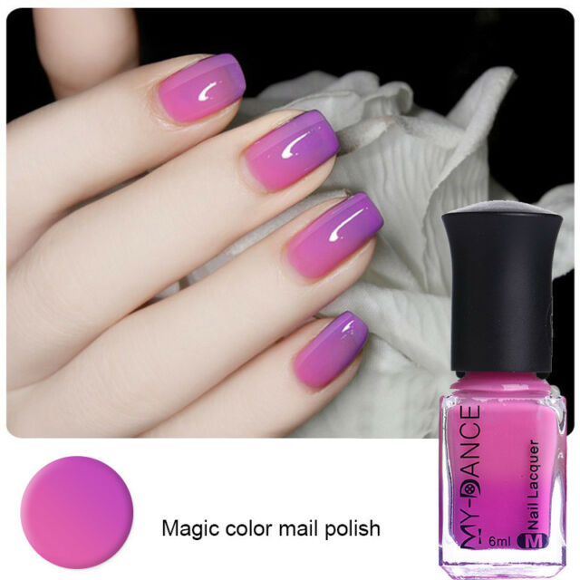 6ml Peel Off Nail Polish Nail Art Manicure Thermal Color Changing
