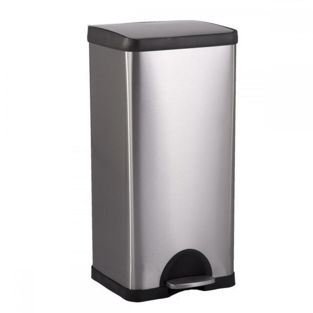 Merveilleux New BestOffice 10 Gallon/ 38L Step Stainless Steel Trash Can Kitchen S38