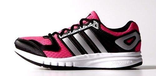 ADIDAS GALAXY W Running Scarpe da ginnastica Solar rosa/nero donna UK 5 a 8 NUOVO con scatola prezzo consigliato 40