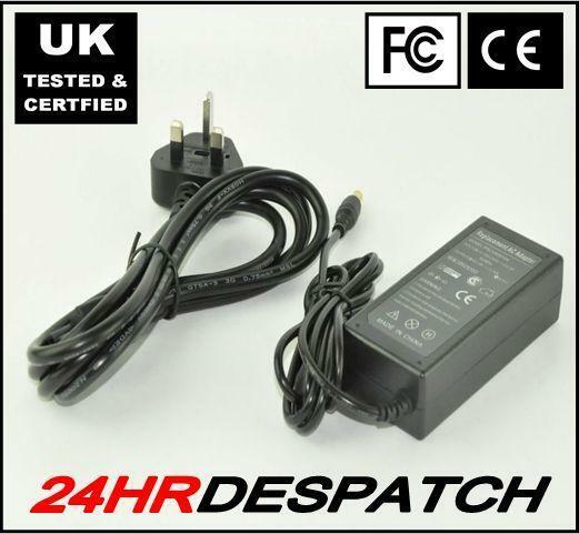 15V 4A Laptop Charger with Power Lead for TOSHIBA Satellite Pro A10