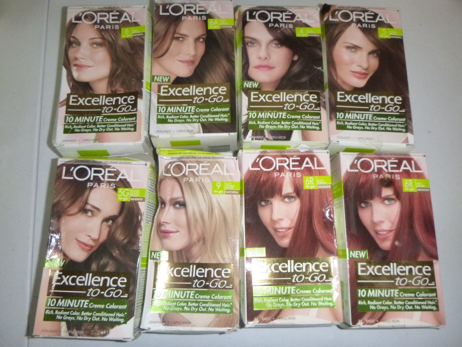 3 Boxes Of Loreal Excellence To Go 10 Minute Colorant 7 Dark Blonde