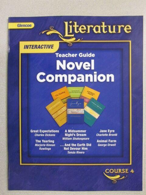 glencoe literature course 4 novel companion book teacher guide rh ebay com Jump Math Teachers Guide Teacher Guide Book