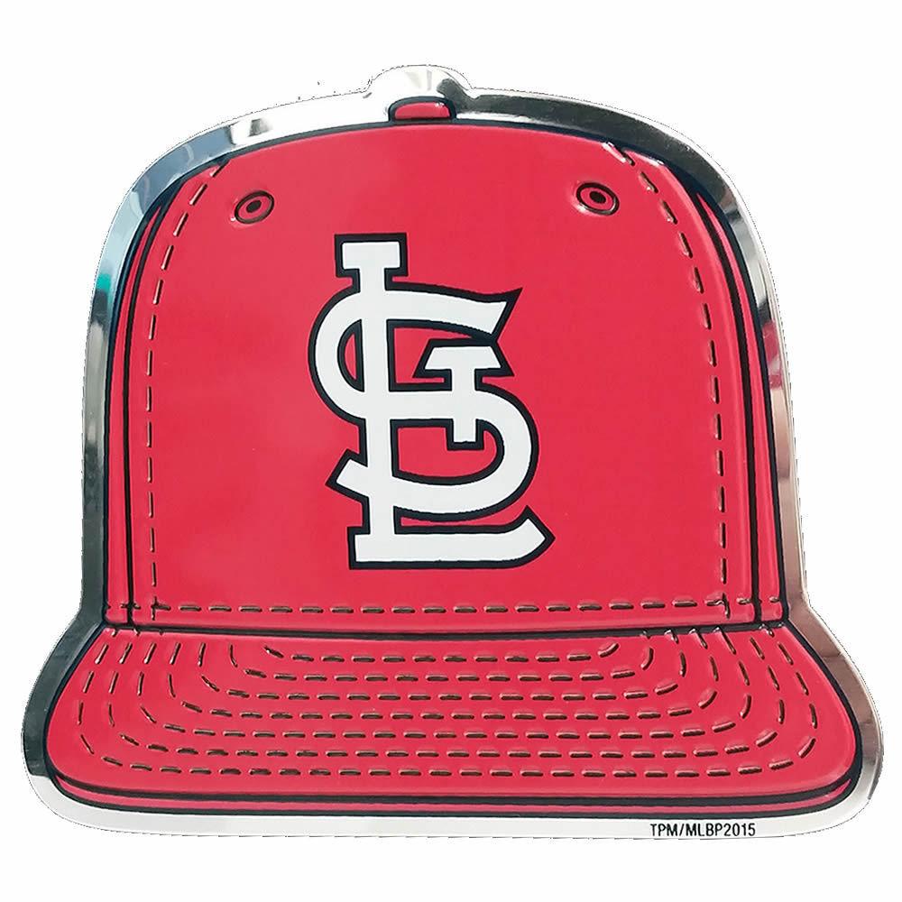 St Louis Cardinals Spec Ed Ball Cap Raised Color Chrome Auto Emblem ... 5501b7a3eb0