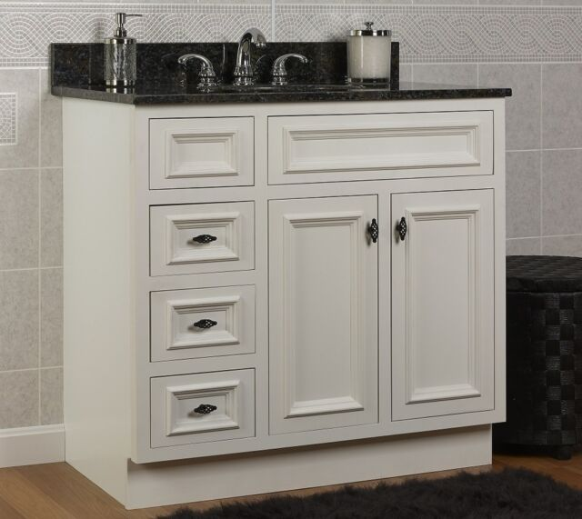 Jsi Danbury 36 White 3 Drawer Bathroom Vanity Base