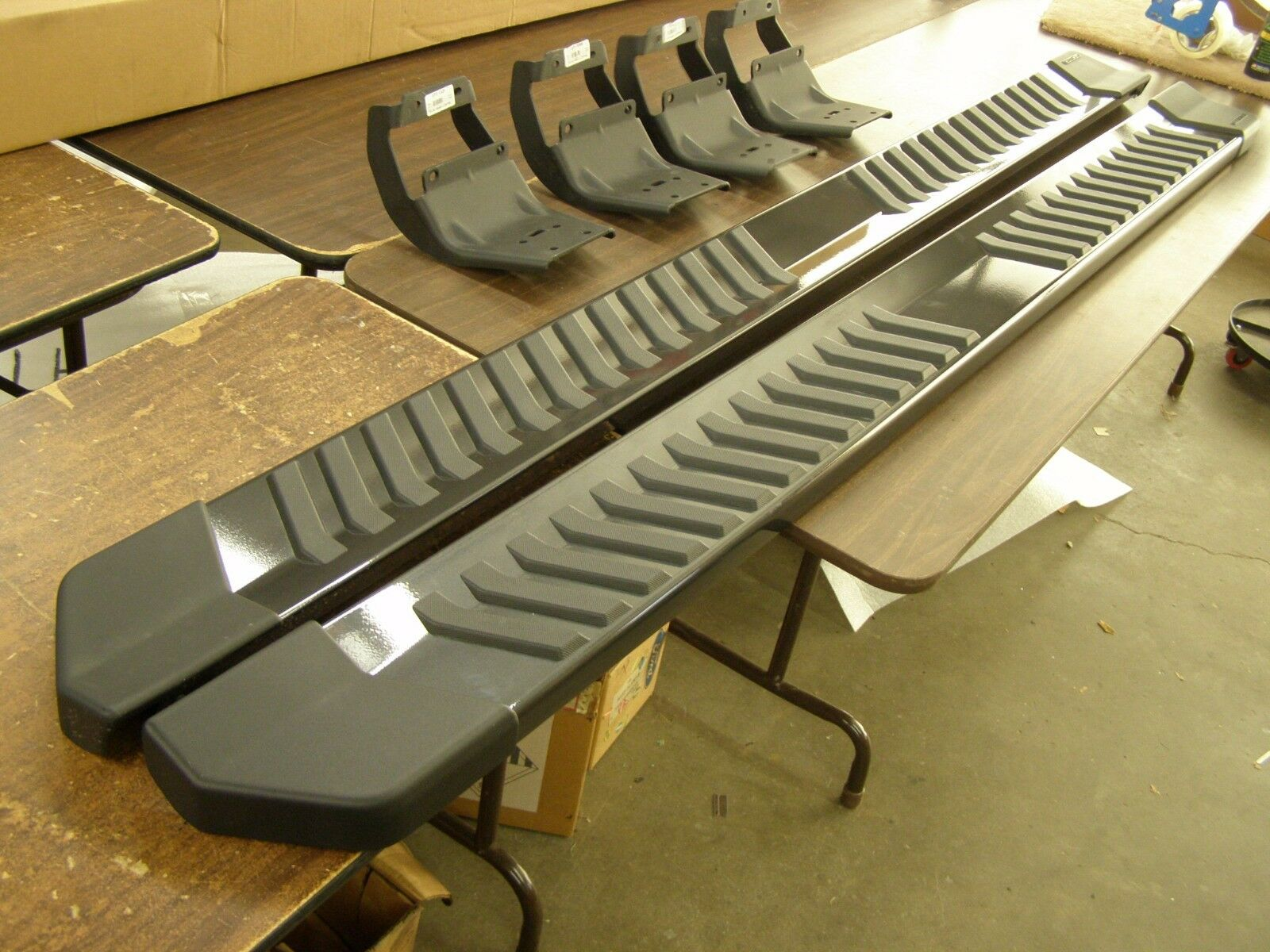 Item   Ford F Truck Running Boards Magnetic Grey  Crew Cab New T Off Oem   Ford F Truck Running Boards Magnetic Grey  Crew