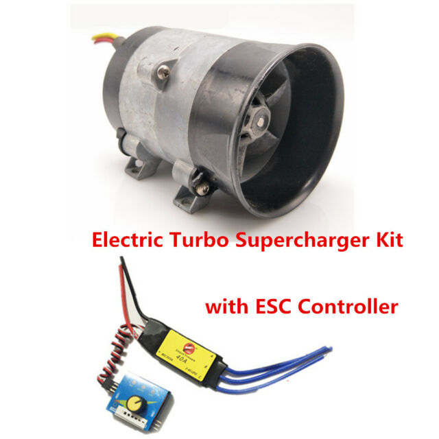 Blower Boost Control : V car electric turbo supercharger kit air intake fan