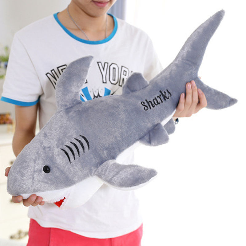 1pc Large Shark Plush Toys Kids Stuffed Animal Toy Doll 50cm Soft Toy Gift