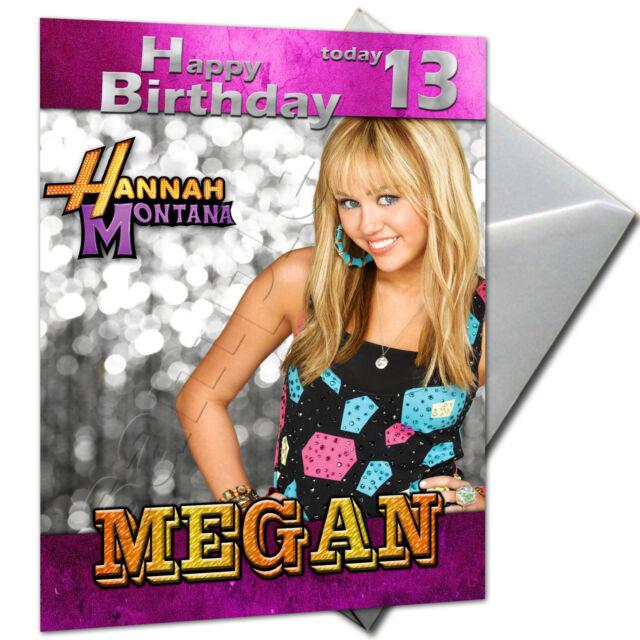 Hannah Montana Personalised Birthday Card Large A5 – Personalised Birthday Card