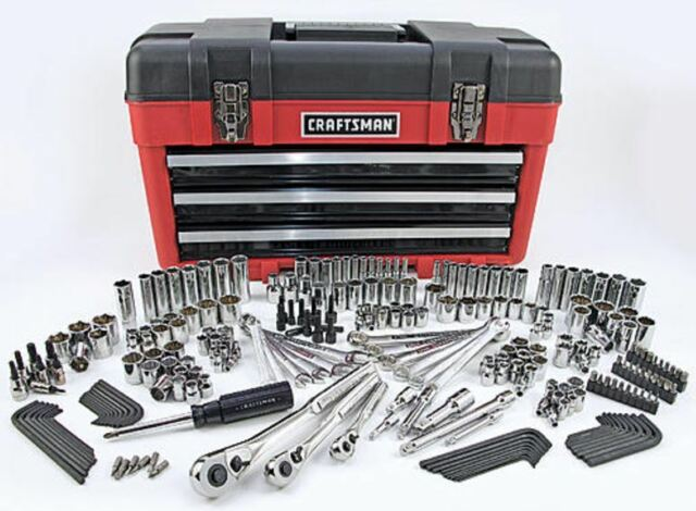 craftsman 260 piece mechanics tool set with 3 drawer carrying chest ebay