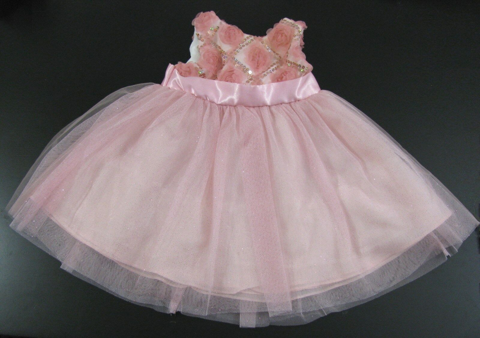 Pink Sequin Party Dress