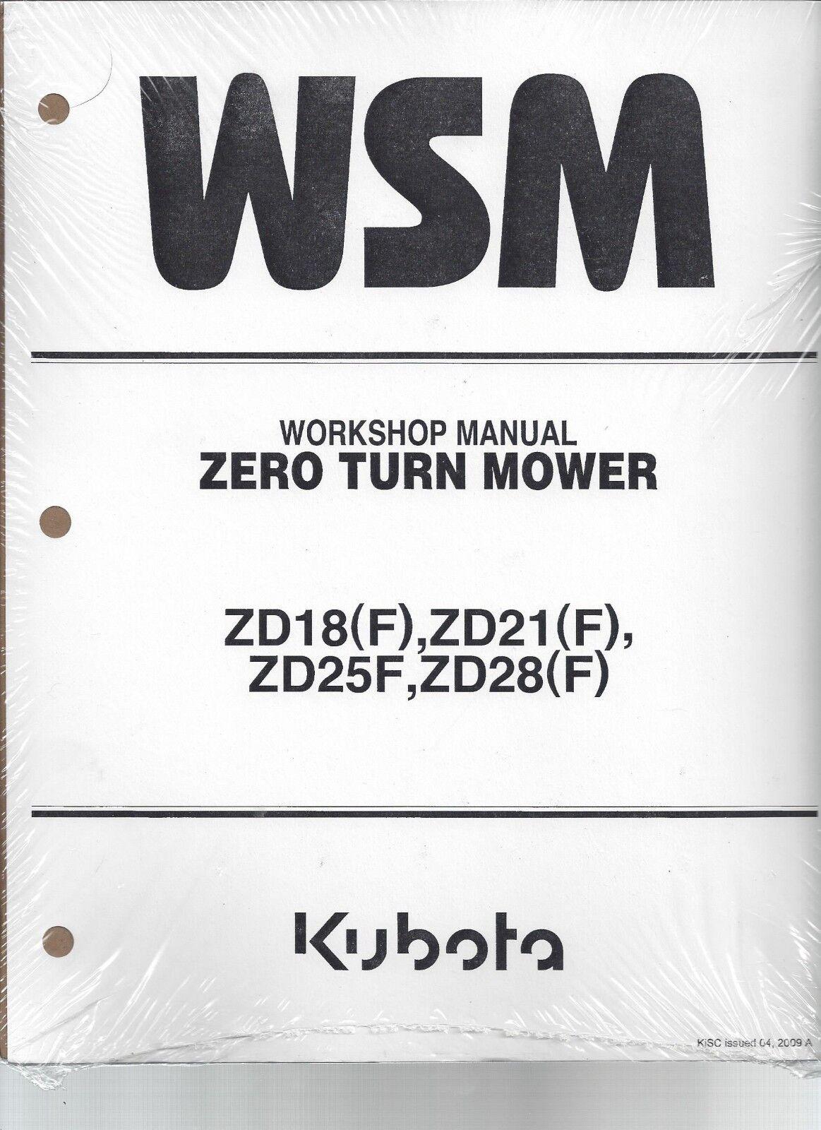 item 2 Kubota ZD18, ZD21, ZD25, ZD28 Workshop Service Manual 9Y021-15062 - Kubota ZD18, ZD21, ZD25, ZD28 Workshop Service Manual 9Y021-15062