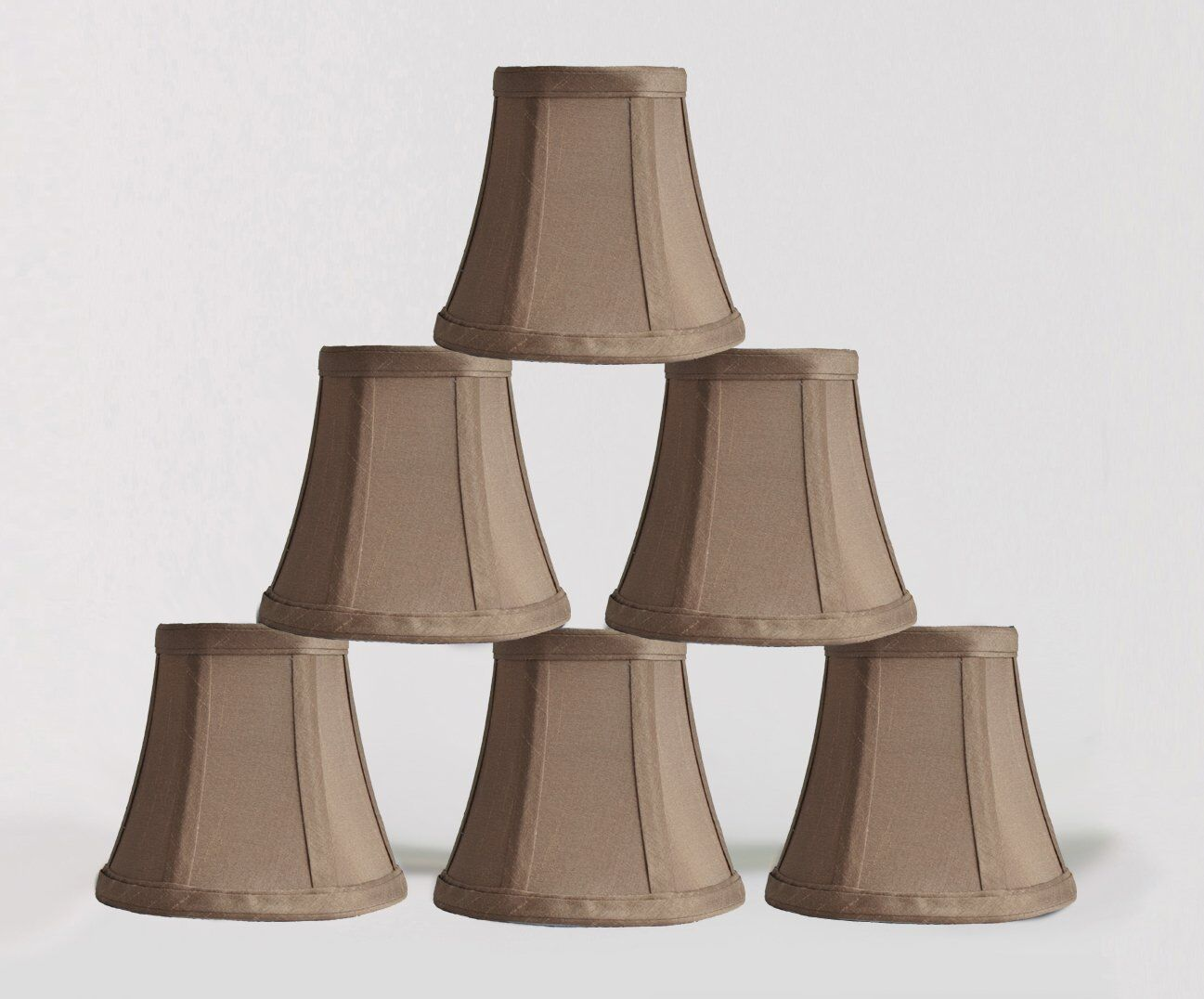 Urbanest 1100463c set of 6 chandelier mini lamp shades 5 inch bell brand new lowest price aloadofball Image collections