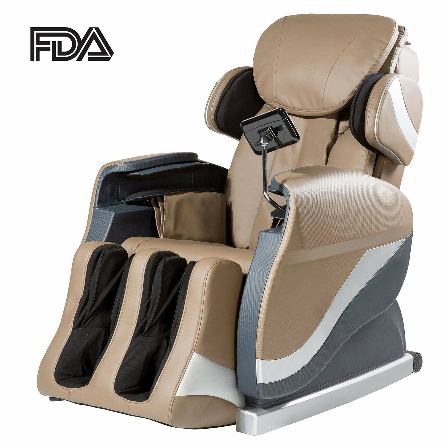 Merax Electric Full Body Shiatsu Massage Chair Recliner Stretched
