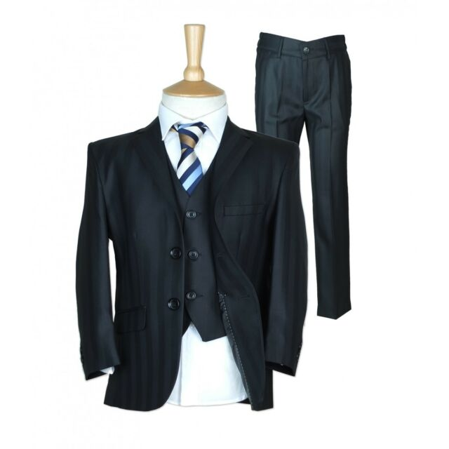 Page Boy Suits Premium Formal Boys Wedding Prom Suits Grey Navy Blue ...