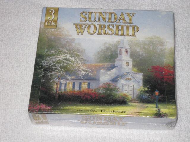 Sunday Worship by Thomas Kinkade (CD, May-2004, 3 Discs) NEW SEALED