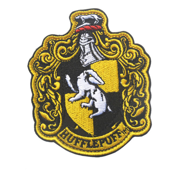 Harry Potter House Logo Embroidered HOOK PATCH Sh+ 690