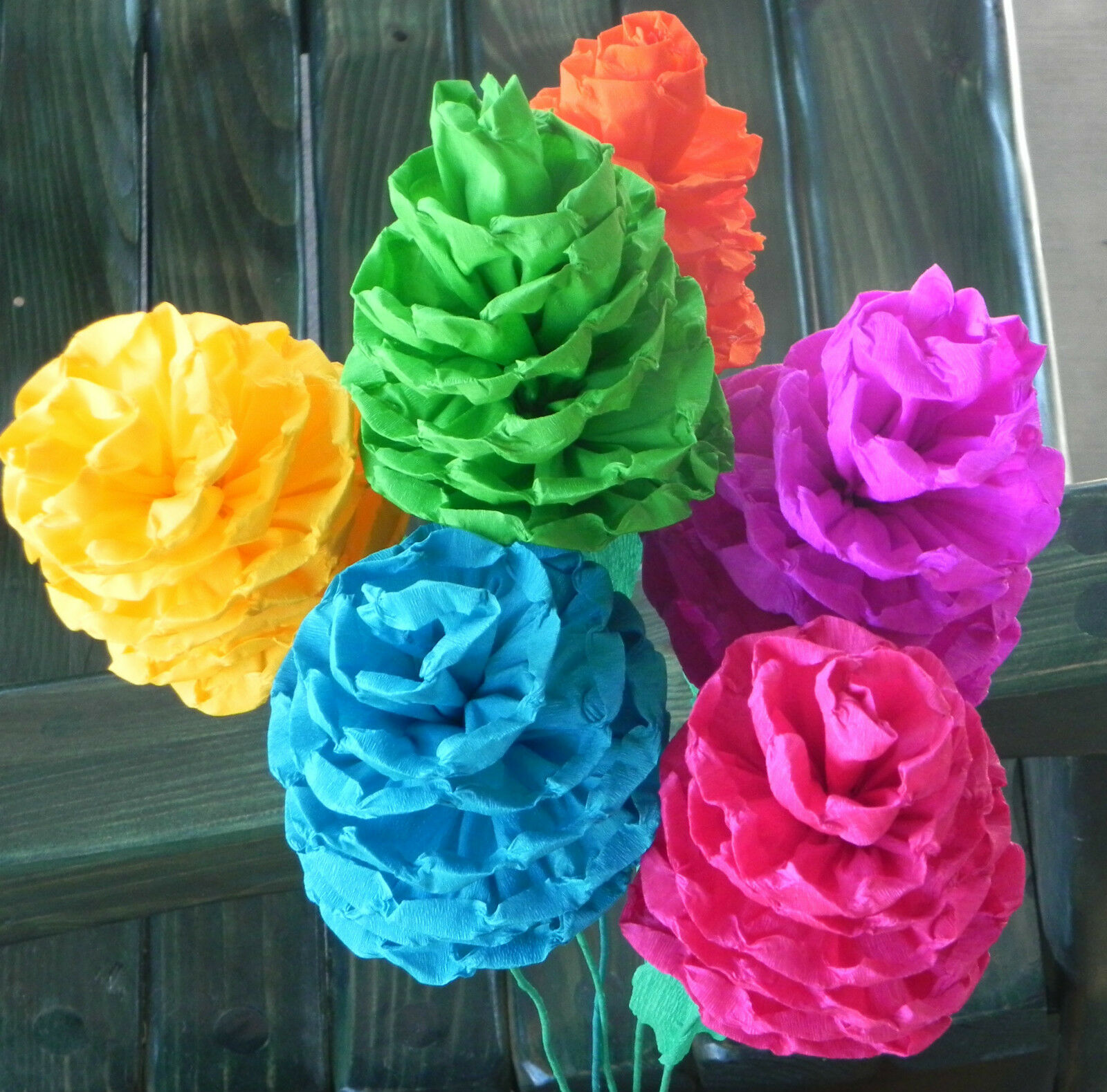 Mexican Paper Flowers Set Of 6 Multicolor Sofis We Make Special