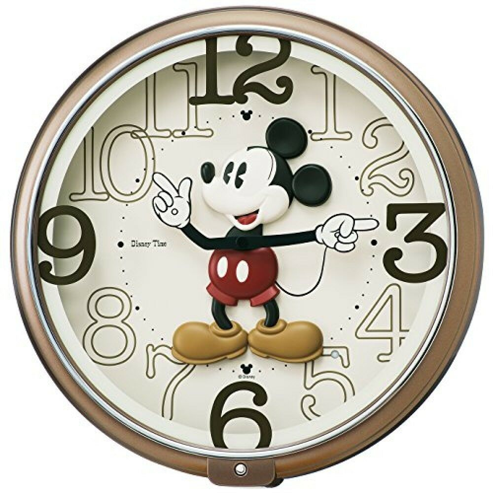 Seiko disney mickey mouse wall clock metallic fw576b 6 songs picture 1 of 4 amipublicfo Choice Image