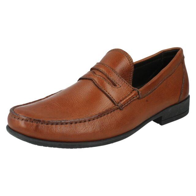Mens Anatomic Tan Leather Slip On Loafer Shoes UK Sizes 7-12 Castelo 838301