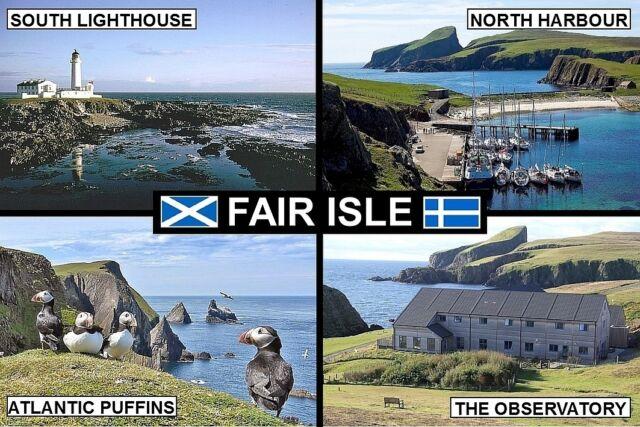 Souvenir Fridge Magnet of Fair Isle Scotland | eBay