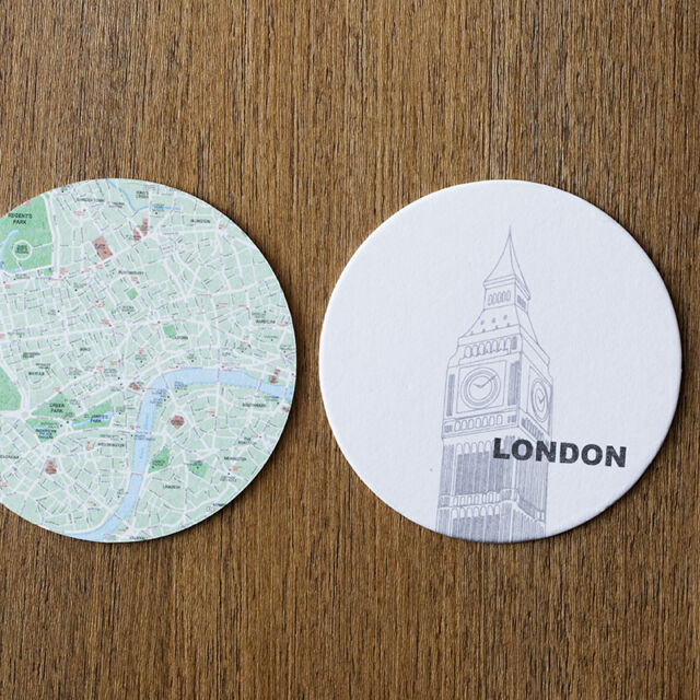 Design Ideas London Map Reversible Coffee Table Coasters Set of 10 ...
