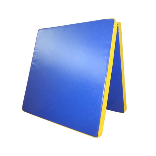 Grevinga® FUN klappbare Turnmatte BLAU-GELB 200 x 100 x 8 cm | RG 22 (138248-)