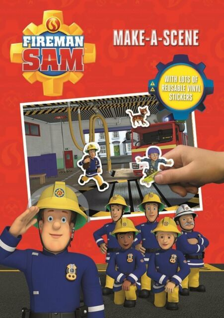 Fireman Sam Make A Scene   Resuable Playboard U0026 16 Vinyl Stickers