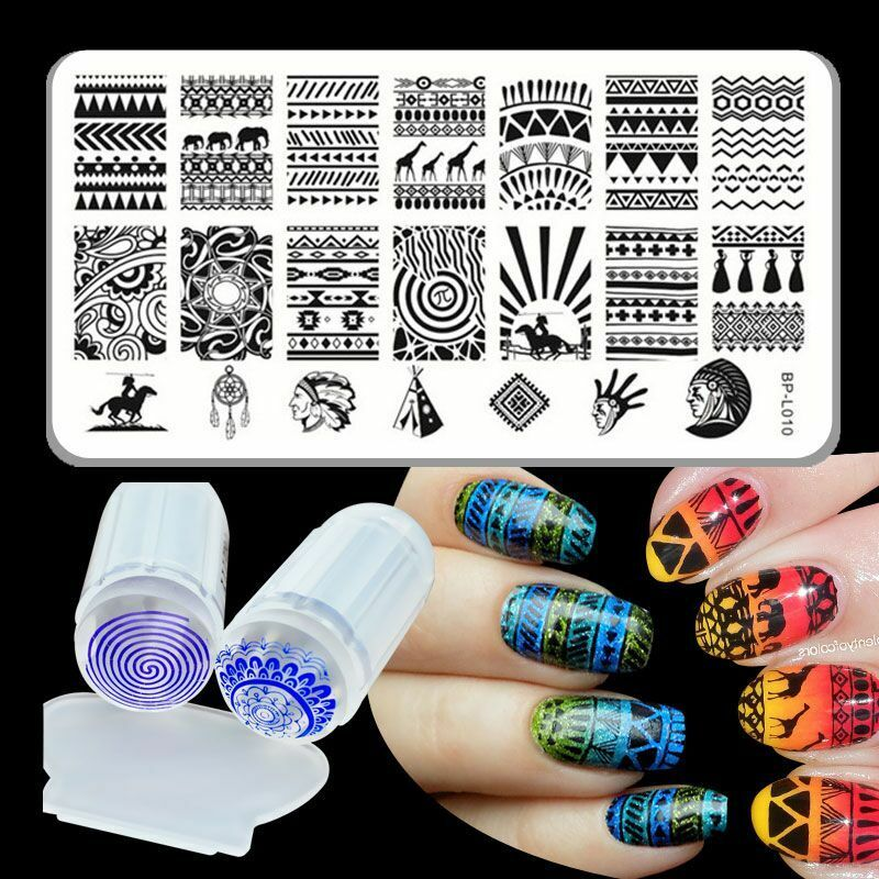 Born Pretty Nail Art Stamp Stamping Plate Aztec Design Image Stamper ...