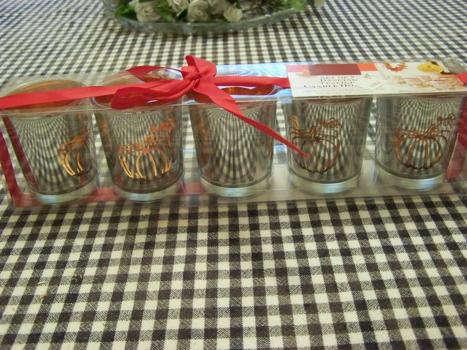 Better Home & Garden Set of 5 Dancing Tealight Candle Holders | eBay