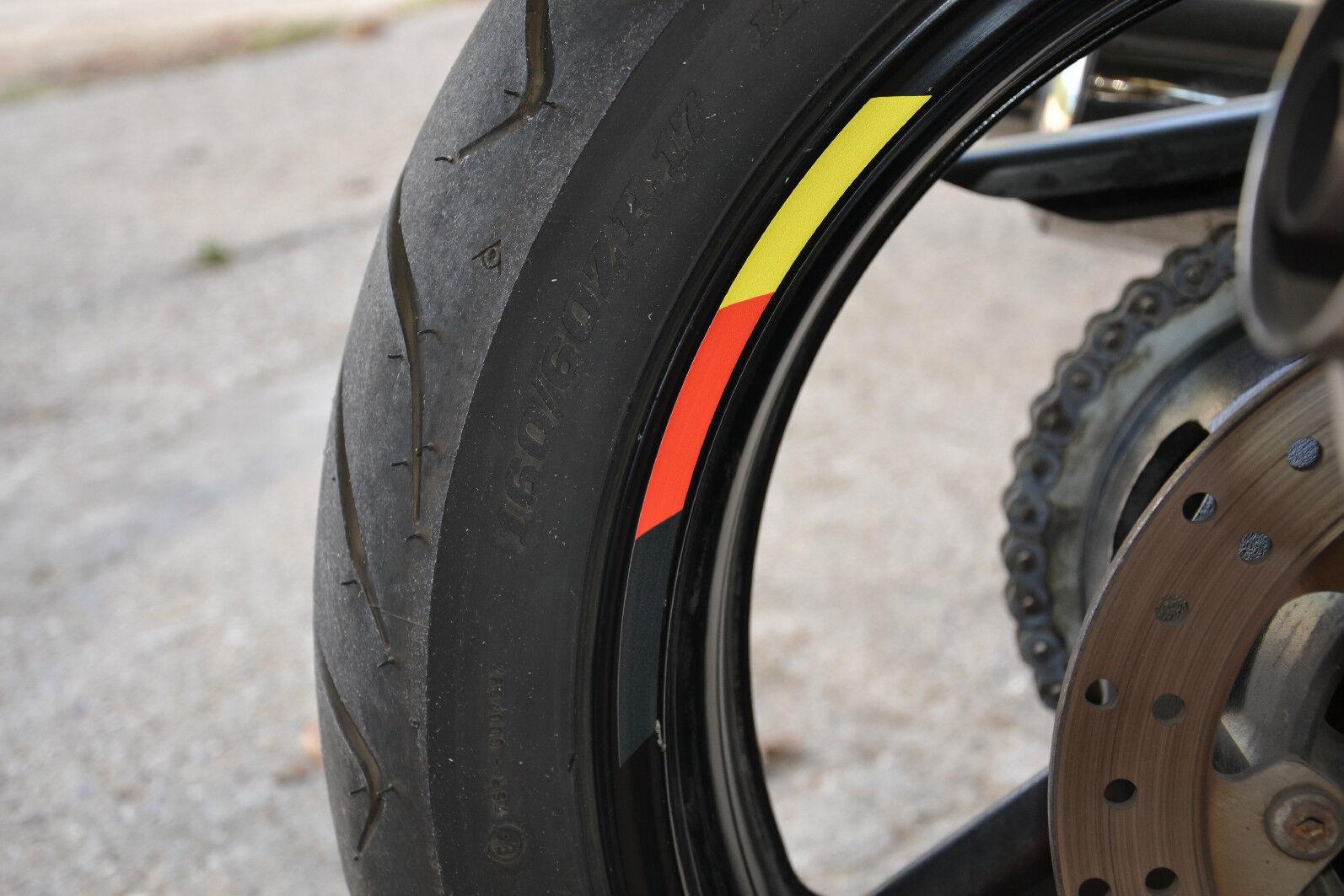X Rims Wheels Germany Vinyl Sticker Stripes Flag Motorcycle Rim - Vinyl stripes for motorcycles