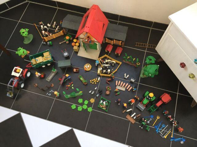 Playmobil Großer Bauernhof 4490 mit sehr viel Zubehör Traktor, Tiere, Bäume